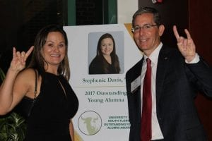 Stephenie Davis Honored with the Outstanding Alumni Award for her work in Business and Philanthropy
