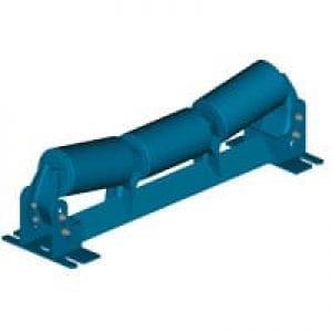 Adjustable transition idler for conveyor system