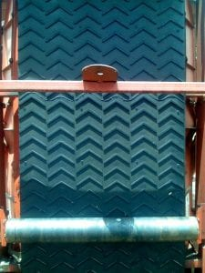 Close up of a new conveyor belt