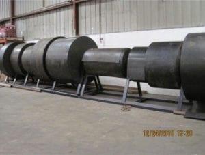 A line of multiple rolls of Conveyor belt