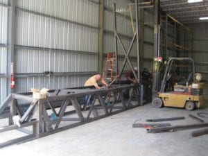New box being built with triple pass welding