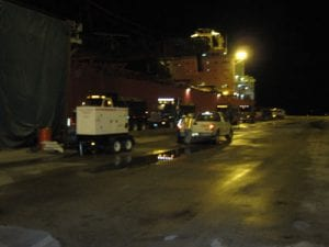 Offloading 2.5 days around the clock 51000 tons at 1000 tons/hr