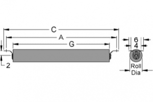 Diagram of channel return channel inset idlers