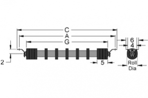 Diagram of return channel inset rubber disc idlers