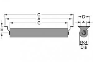 Diagram of return idlers