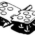 Diagram of hinged rivet