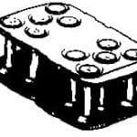 close-up diagram of solid rivit