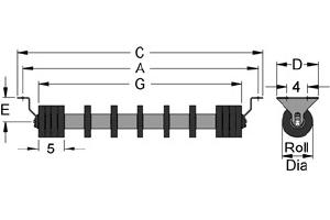 Diagram of rubber disc return idlers