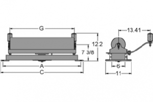 Diagram of self-aligning flat carrier idlers