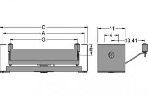 Diagram of self aligning return idlers