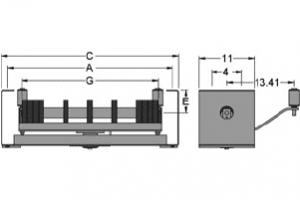 Diagram of self aligning rubber disc return idlers