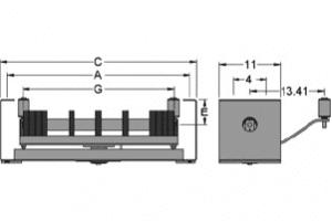 Diagram of self-aligning rubber disc return idlers
