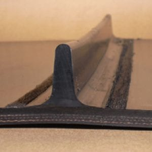 Tee cleats, rubber profiles for belt fabrication