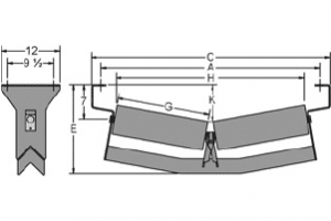 Diagram of v-return idlers