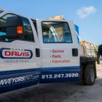 Davis Industrial Conveyor Services and Industrial Fabrication Truck on Site
